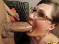 Kinky on the level spex tranny rides big cock