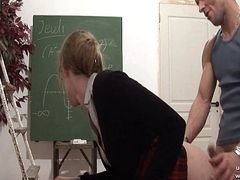 Disconsolate french teacher eternal sodomized and fist drilled at crammer