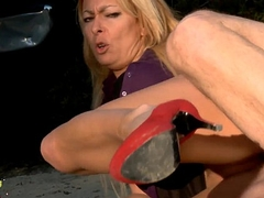 Blonde mature whore fucked very hard, yon hammer away ass , fisted and squirts