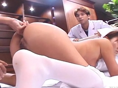 Uncensored Japanese attend to CMNF anal inspection Subtitled