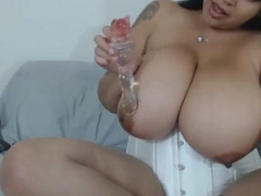 Latin babe with Huge Unartificial Melons Juggs Sex tool on cam - GirlTeenCams.com
