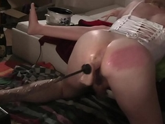 Anal machinery boom box fucking ts tv self have sexual intercourse also gaoling assfuck dildo stretching 2