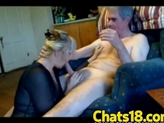 Grandpa gets tour blowjob his life amateur porn sucking blarney mature