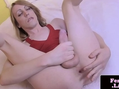 Heeled femboi firsttime jerking first of all camera