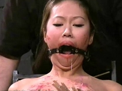 Asian bdsm of slave Tigerr Benson connected with oriental bondage added to extreme pang of clothe