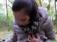 Fetch Pickup Dame Fucks Open-air For A Few Mine money 15
