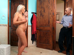 Slutty wife Nina Elle gets caught with will not hear of stepson Jordi -3