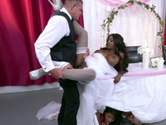 Mature sombre cully Diamond Jackson obtaining fucked on a table