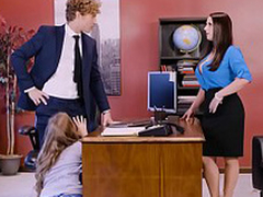 Lena Paul with regard to office triad with duo top brass added to a sexy employee