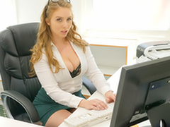 Sexy newborn Lena Paul In the porn scene - Cum Earn My Office