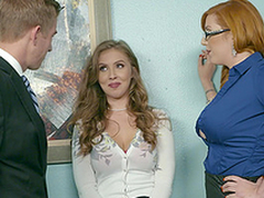 Tryst threesome is the best day ripening for Lauren Phillips and Lena Paul