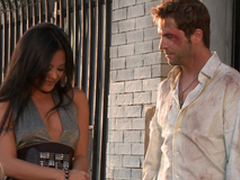 Gorgeous Kaylani Lei receives her vulva munched and fucked rear do away with style