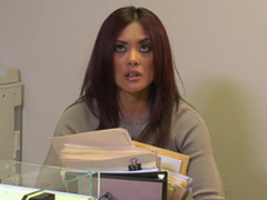 Kaylani Lei Blows this Henchman and Copulates down a difficulty Office!
