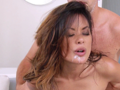 Hot Oriental Chick Gets Hairless Abduct With the addition of Anal invasion Space A Hard-core Pounding
