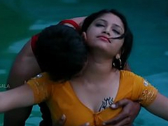 Hawt Mamatha romance with chum friend in swimming pool-1