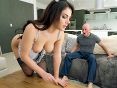 Valentina Nappi in french maid unvaried is flakes the house