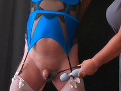 Respect Pounding - Femdom Mistress CBT Session thither Cissy Slave