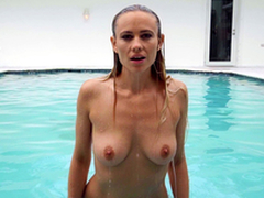 Private Pool Party Featuring Addie Andrews plus JMac - Brazzers Exxtra HD