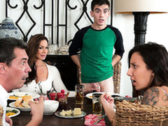 Morose mom Kendra Lust riding son dig up Jordi El Niño Polla