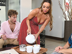 Abigail Mac finds the opportunity to enjoy XXX joke even in stepmom's house