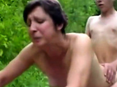 Forest XXX Sex Fuckers 1 - Age-old Woman & Young Boy - Sex Scene