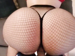 Adorable and eyeless web camera eyeless MILF here heavy succulent tits is riding their way vibrator