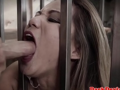 Caged bdsm asian blarney with an increment of ball engulfing