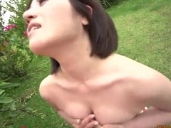 Innovative flannel riding sexual connection close to Minami Asano